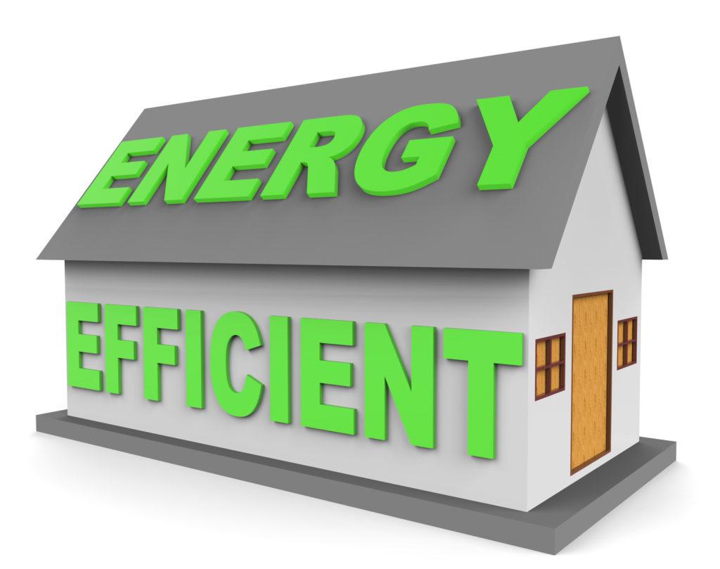 Energy Efficient House Representings Homes 3d Rendering