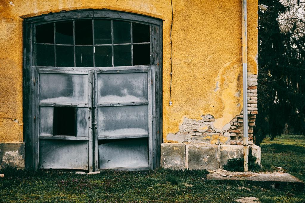 Abandoned old garage